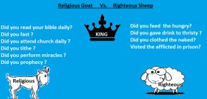 Religious vs Righteous